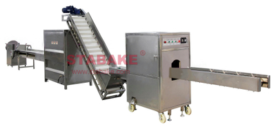 Onion Processing Machine Onion Root Cutting And Peeling Equipment